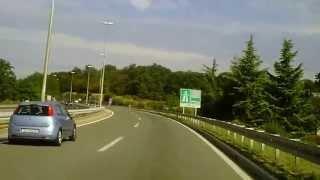 preview picture of video '1.9.2013 4: Autofahrt von Matulji (B8 = E751) bis Jušići (A7 = E61)'