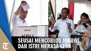 Seusai Mencoblos Jokowi dan Istri Merasa Lega