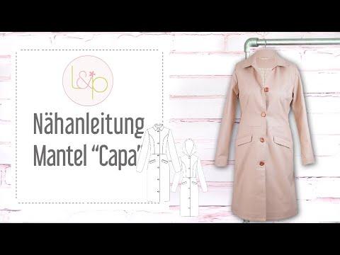 Nähanleitung lillesol Mantel Capa - einen klassischen Mantel nähen