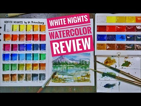 Is White Nights Watercolor, ARTIST GRADE?? Swatching, Sample Painting and Review