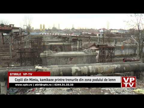 Copiii din Mimiu, kamikaze printre trenurile din zona podului de lemn