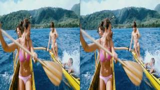The Ultimate Wave In Tahiti - Real 3D LG Demo for VR Glasses
