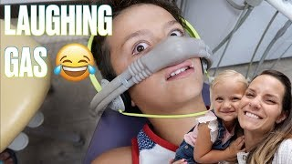 👨⚕️TAKING FOUR KIDS TO THE DENTIST PLUS A THREE YEAR TODDLER WELL CHECK WITH LAUGHING GAS 🤣
