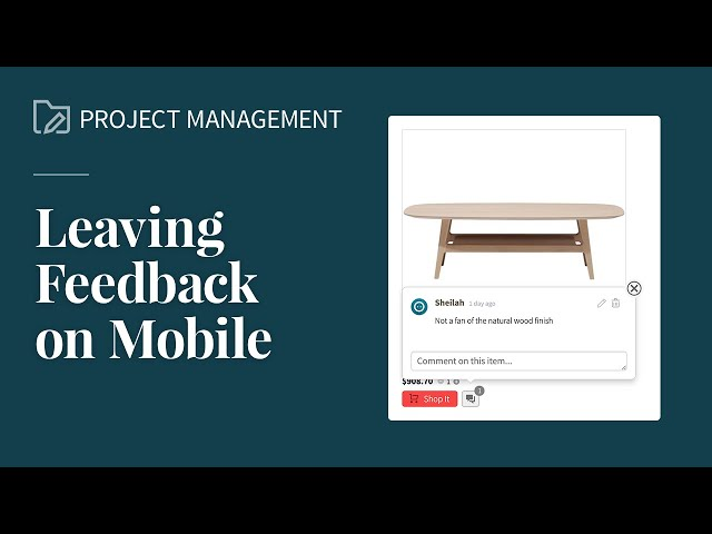 Leaving Feedback on Mobile