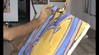 Mario Prencipe nel suo atelier
