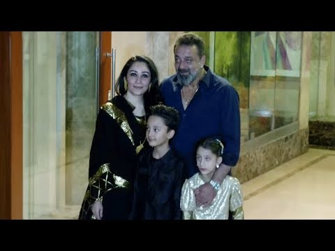 Sanjay Dutt's GRAND ENTRY With Family At His DIWAL