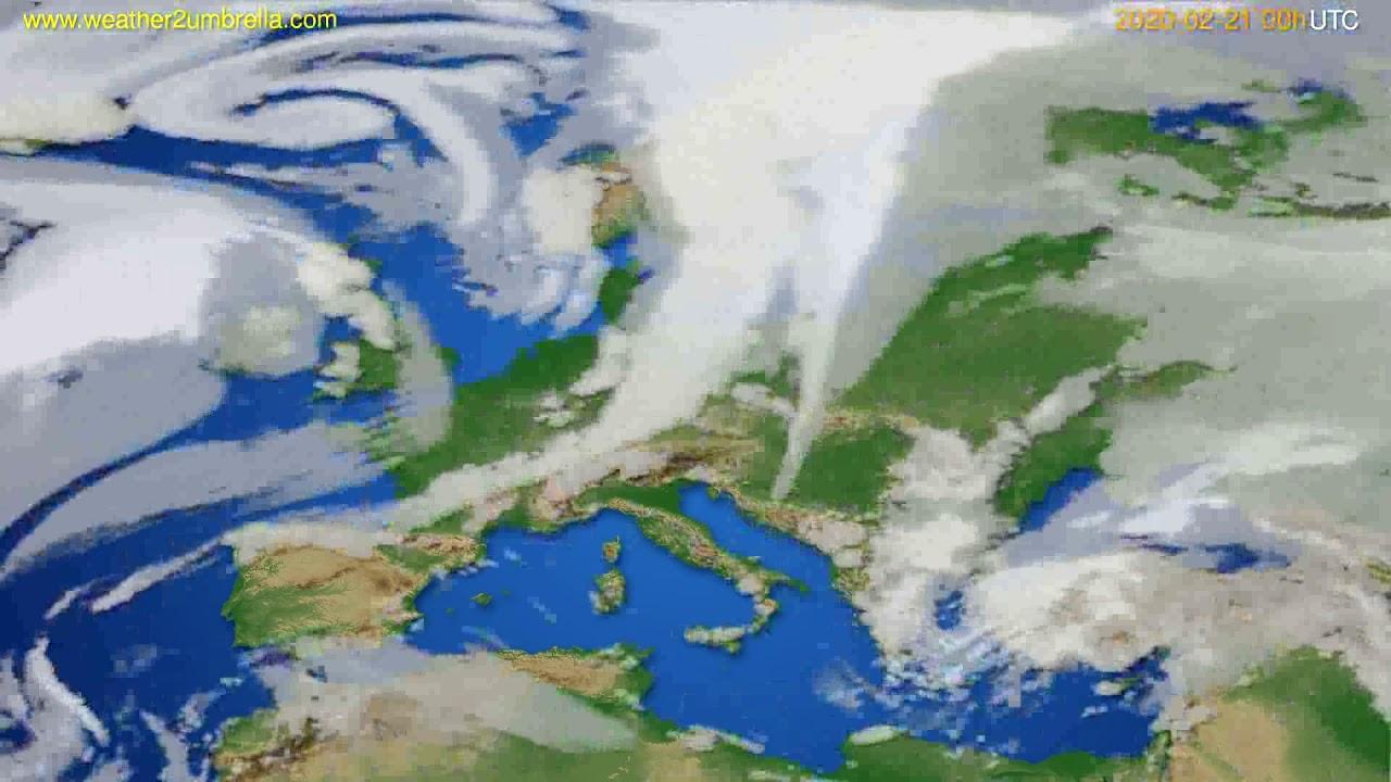 Cloud forecast Europe // modelrun: 00h UTC 2020-02-20
