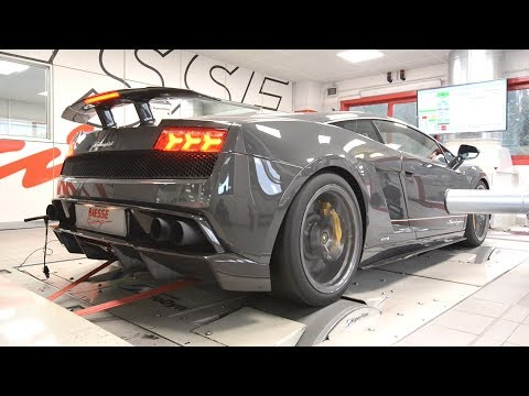 Lamborghini Gallardo Superleggera With Tubi Style Exhaust SCREAMING On The Dyno!