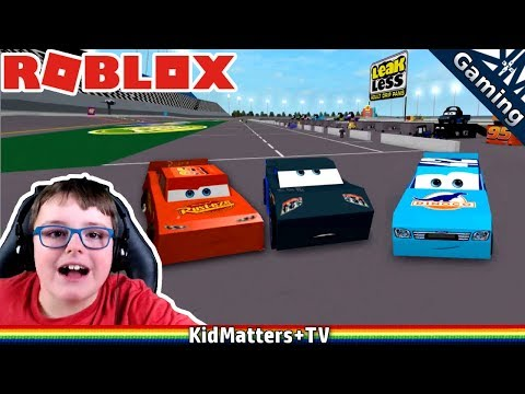 CARS 3 RACING Adventure STORM vs LIGHTNING MCQUEEN. Roblox CARS 3 Racetrack [KM+Gaming S02E44]