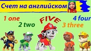 Учимся считать по-английски до шести с Мультяшкой Глебом и Щенячим Патрулем!