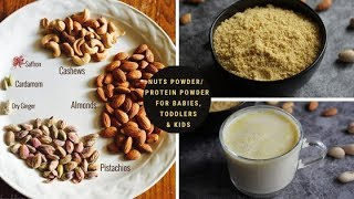 Nuts Powder/Protein Powder Recipe for Babies,Toddlers & Kids | Dry Fruits Powder |Weight Gain Food