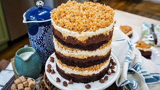 Courtney Richs Chocolate Coconut Cookie Cake - Home & Family