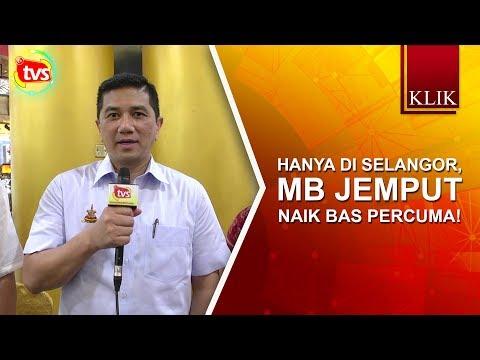 Hanya di Selangor, MB jemput naik bas percuma!