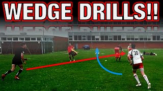 RUGBY LEAGUE 9 WEDGE DRILL CREATING SPACE AND GAPS