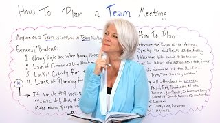 How to Plan a Team Meeting - Project Management Training