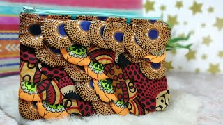 DIY Statement Clutch Zippered Purse|African Print Fabric
