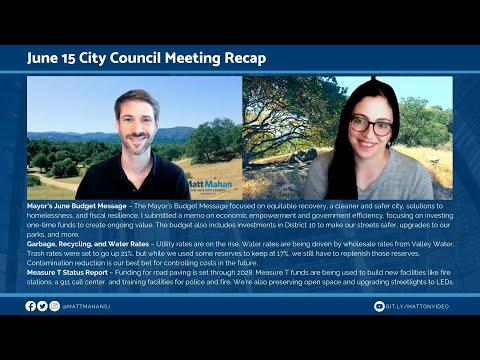 June 15 San Jose City Council Meeting Recap
