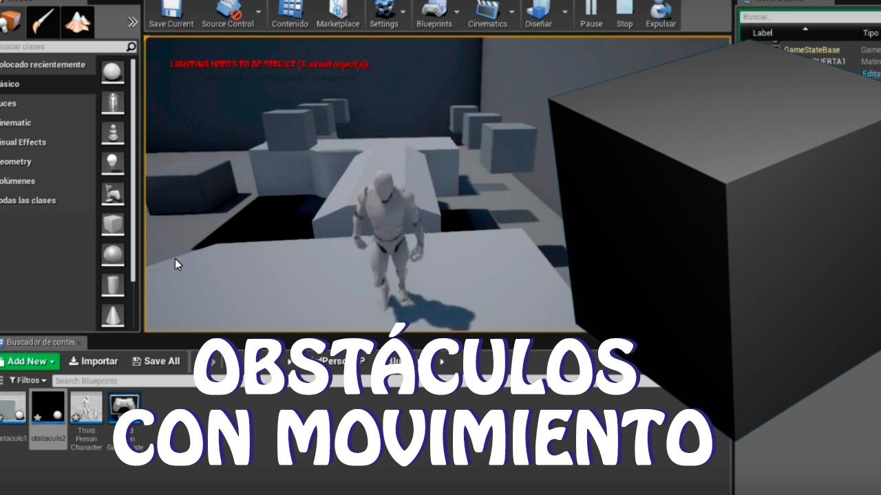 Unreal Engine 4: Tutorial obstáculos con movimiento (español)