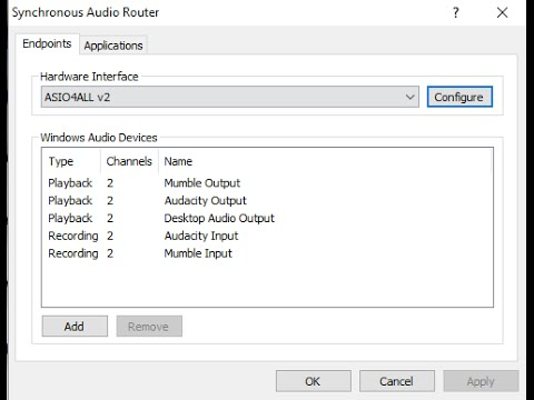 Make your own FREE virtual audio cables with Synchronous