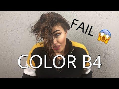 COLOR B4 Test // Von Schwarz zu Blond // Mega Haar Fail
