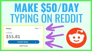 Make An Easy $50/Day On Reddit Just Typing (FOR BEGINNERS)