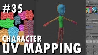 Blender 2.6 Tutorial 35 - Character UV Mapping
