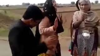 pakistani boy n girls wedding dance by village
