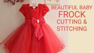 Designer Baby Frock Cutting And Stitching In Hindi For 6 Month To 1 Year Old Baby