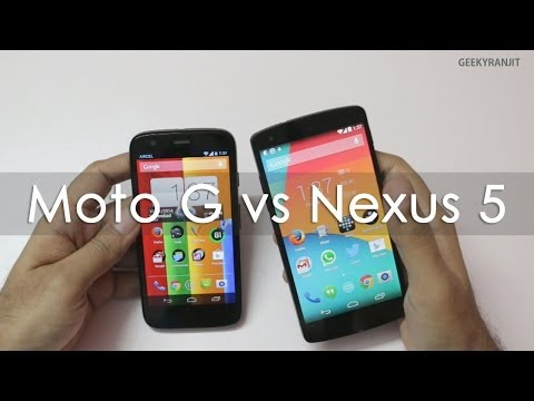 Moto G vs NEXUS 5 Android Phone Top 10 Differences