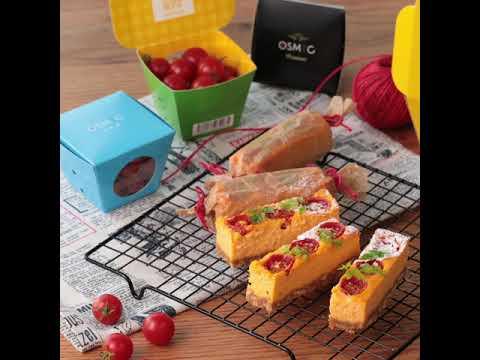 女子会におすすめ♪「ミニトマトのベイクドチーズケーキ」
