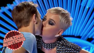 KATY PERRY Shares FIRST EVER KISS With American Idol Contestant | Amazing Auditions