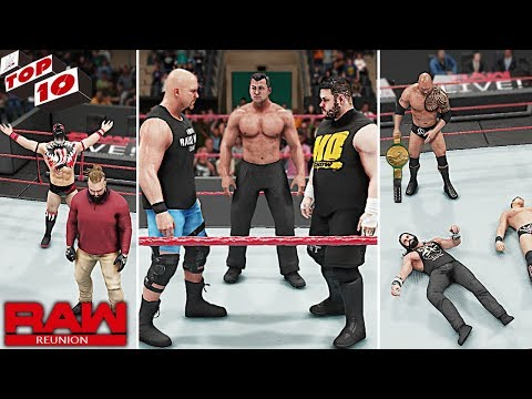 WWE Top 10 Raw Reunion 2019 Predictions! (WWE 2K19)