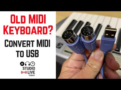 How to connect older MIDI keyboards to USB (MIDI to USB cable)