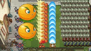 Pvz 2 - Citron, Fire Peashooter and Torchwood
