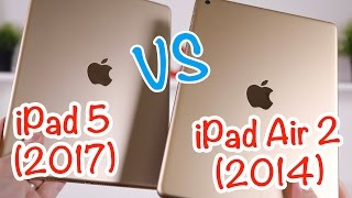 Test de l'iPad 5 (2017) vs iPad Air 2