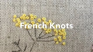 Embroidery Tutorial - French Knots | Chrissie Crafts