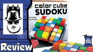 Color Cube Sudoku Review - with Tom Vasel
