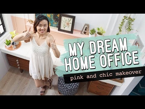 Home Office Makeover // Millenial Pink Office and Vanity Area // by Elle Uy