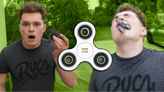 1000 MPH FIDGET SPINNER VS FACE! (HORRIBLE ENDING)