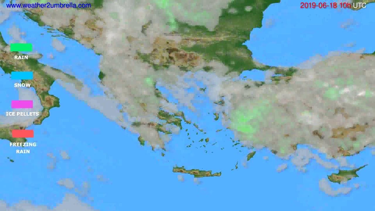 Precipitation forecast Greece // modelrun: 00h UTC 2019-06-16