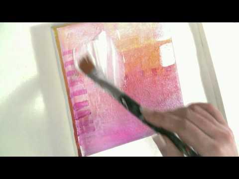 malen lernen mit acryl thema collage und transfertechnik auf leinwand zeichnen lernen. Black Bedroom Furniture Sets. Home Design Ideas
