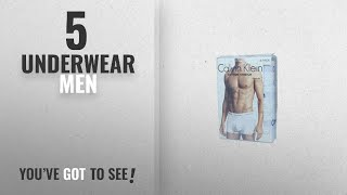 Top 10 Underwear Men [2018]: Calvin Klein Underwear Mens Pack Of 3 Trunk Shorts