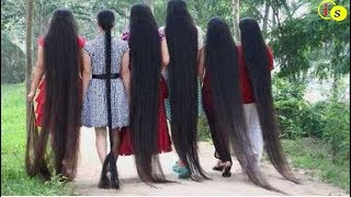 People With Ridiculously Long Hair !! Girls Long Hair !! INFORMATION SIDE
