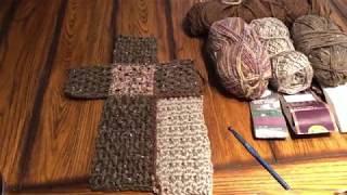 Prayer Afghan Crochet Cross/ Masculine Blanket