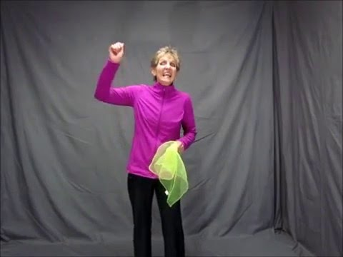 Screenshot of video: Scarf activity - crossing midline