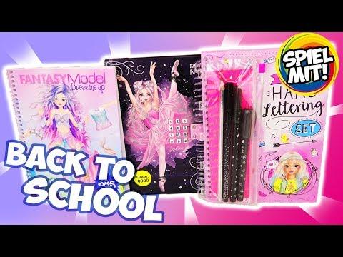 3 TOPMODEL & FANTASY MODEL Back to School Bücher DRESS ME UP Elektronisches Tagebuch Schreibschrift