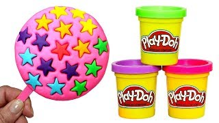 Play Doh Ice Cream Rainbow Stars How to Make Ice Cream with Clay Creative Fun for Kids