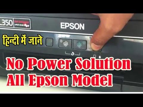 epson printer red light error solution epson l380 , l360