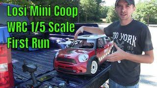 Losi Mini Coop WRC 1/5 Scale - First Run