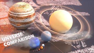 Universe Size Comparison | 3D 2018 🎬